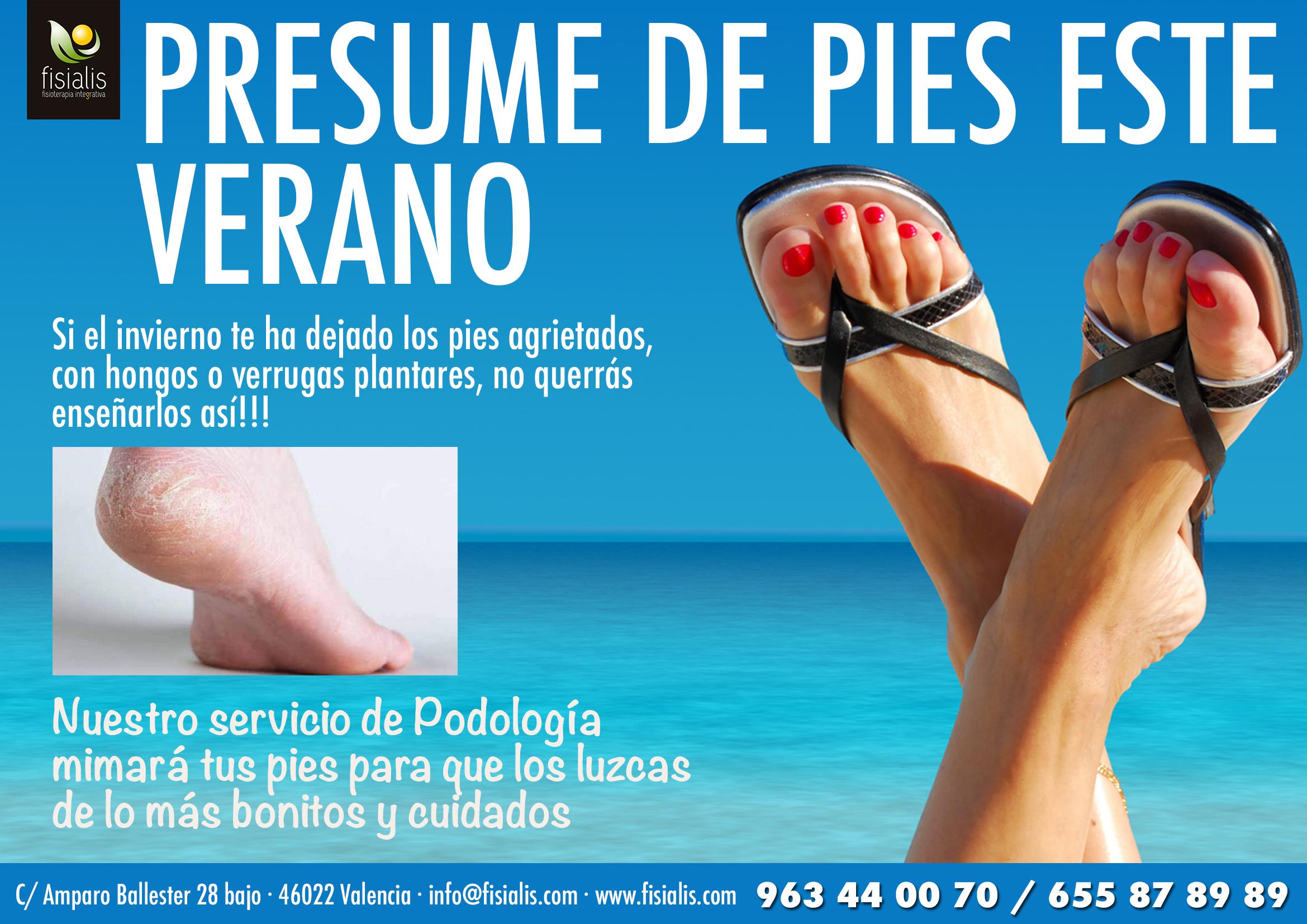 Cartel podologia verano fisialis
